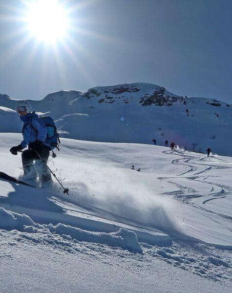Skitechnik Tiefschnee